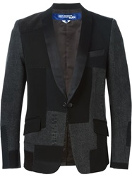 Junya Watanabe Comme Des Garcons Man Patchwork Denim Blazer Black