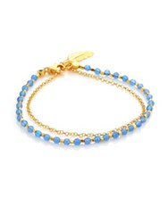 Astley Clarke Biography Blue Agate And Diamond Feather Bracelet