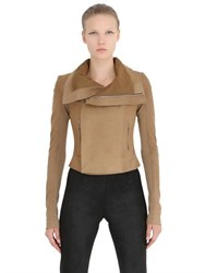 Rick Owens Classic Suede Moto Jacket