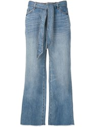 Armani Exchange Wide Leg Trousers Blue