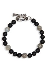 King Baby Studio Onyx Bead Bracelet Black