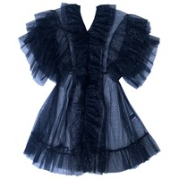 Supersweet X Moumi Tulle Babydoll In Midnight Blue Black Blue