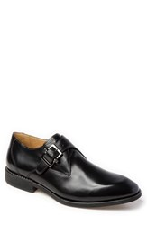 Sandro Moscoloni Wendell Single Buckle Monk Shoe Black Leather