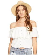 Free People Love Letter Tube Top Ivory Women's Sleeveless White