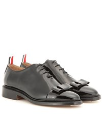 Thom Browne Patent Leather Oxford Shoes Black