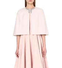Ted Baker Yonne Embellished Wool Blend Cape Baby Pink