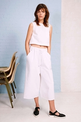 Silence And Noise Silence Noise Pull On Gaucho Pant White