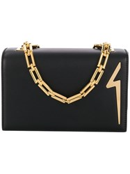 Giuseppe Zanotti Design G Logo Shoulder Bag Black