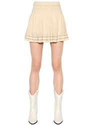 Etoile Isabel Marant Embroidered Cotton Gauze Mini Skirt