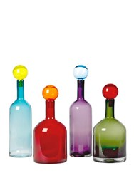 Pols Potten Bubbles And Bottles Set Of 4 Bottles Multicolor