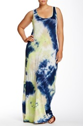 Loveappella Tie Dye Racerback Maxi Dress Plus Size Multi