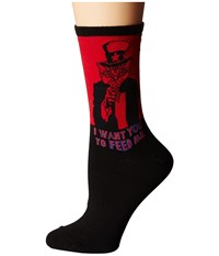 Socksmith Patriotic Kitty Red Women's Crew Cut Socks Shoes