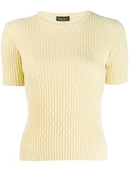 Roberto Collina Ribbed Knitted Top Yellow