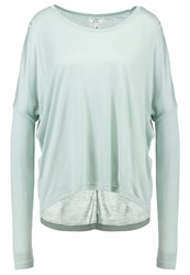 Mbym Long Sleeved Top Aqua Gray Green