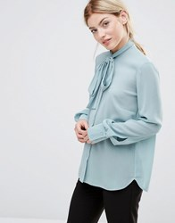 Alter Blouse With Tie Neck Mint Green