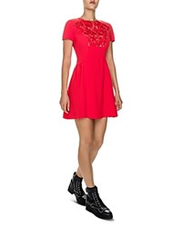 The Kooples Lace Inset Dress Red