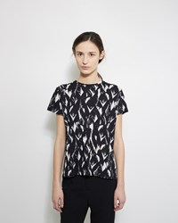 Proenza Schouler Printed Tissue Tee Black And White Feather