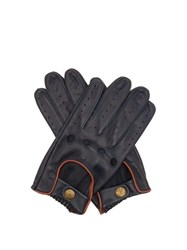 Dents Delta Leather Driving Gloves Navy