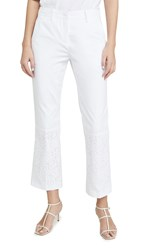 N 21 No. Crop Flare Trousers White