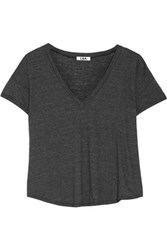 Lna Slub Stretch Jersey T Shirt Charcoal