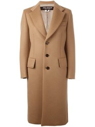 Comme Des Garcons Junya Watanabe Single Breasted Coat Nude Neutrals
