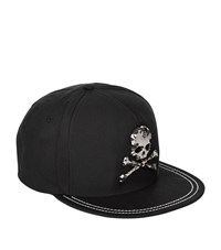 Philipp Plein Nickel Skull Cap Unisex Black
