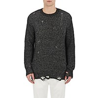 R 13 R13 Men's Distressed Sweater Black Blue Black Blue