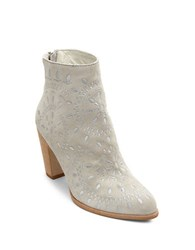 Matisse Springfield Suede Embroidered Booties Ivory