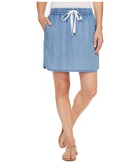 Lilla P Pull On Skirt Denim Blue Women's Skirt