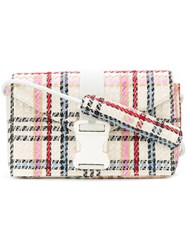 Christopher Kane Woven Tartan Devine Handbag Nude And Neutrals