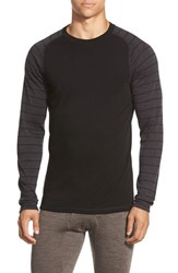Men's Smartwool 'Nts Mid 250' Long Sleeve Crewneck T Shirt Black Charcoal Heather