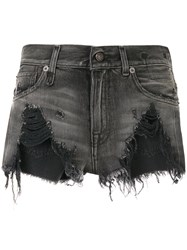 R 13 R13 Niles Denim Shorts Grey