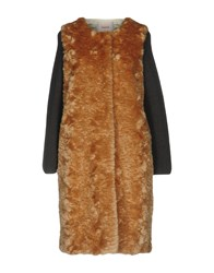 Jucca Coats And Jackets Faux Furs Brown