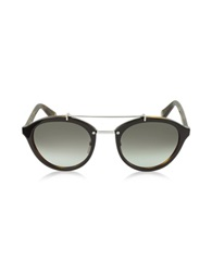Marc Jacobs Mj 471 S Acetate And Silver Metal Round Sunglasses