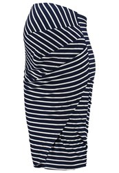 Dp Maternity Pencil Skirt Navy Blue Dark Blue