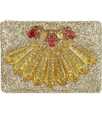 Mawi Exclusive Christmas Glitter Clutch Gold