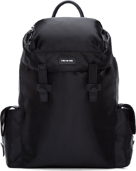 Mcq By Alexander Mcqueen Black Satin Backpack