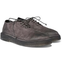 Marsell Washed Suede Derby Shoes Gray