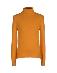 Gran Sasso Knitwear Turtlenecks Men Ochre