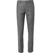 Club Monaco Slim Fit Herringbone Tweed Trousers Gray