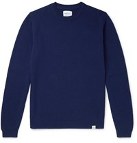 Norse Projects Sigfred Brushed Wool Sweater Blue