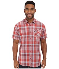 O'neill Emporium Plaid Short Sleeve Wovens Spice Men's Short Sleeve Button Up Red