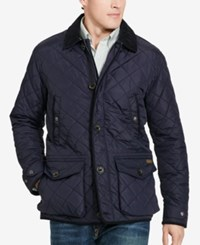Polo Ralph Lauren Men's Big And Tall Diamond Quilted Jacket Aviator Navy