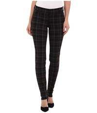 Kut From The Kloth Trouser Plaid Ponte Skinny Brown Black Women's Casual Pants