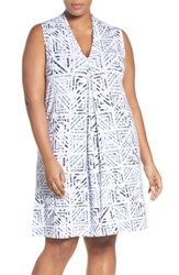 Tart Plus Size Women's 'Tara' Print Jersey A Line Dress
