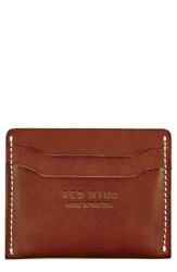 Red Wing Shoes Leather Card Case Brown Oro Russet Frontier