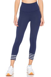 Beyond Yoga X Kate Spade Sailing Stripe High Waisted Capri Legging Navy