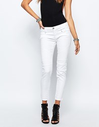 Replay Winaryde Biker Jean With Knee Panel White