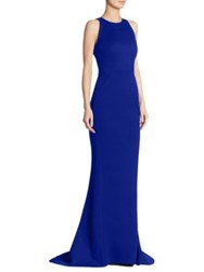 Zac Posen Solid Sleeveless Gown Royal Blue