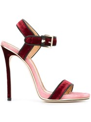 Dsquared2 Velvet Sandals Pink And Purple